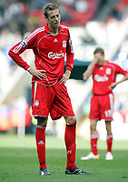 Photo: Paul Thomas.<br /> Bolton Wanderers v Liverpool. The Barclays Premiership. 30/09/2006.<br /> <br /> Peter Crouch (L) and Craig Bellamy of Liverpool show thier dejection after the match.