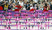 Friidrett , 8. august 2012 , Olympiske leker London , OL , <br /> Athletics , August 8th 2012 , Olympic Games London<br /> <br /> Hansle Parchment , JAM , <br /> AriesMerritt , USA<br /> Dayron Robles , Cuba<br /> Jason Richardson , USA<br /> 110 m h