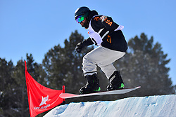 Snowboarder Cross Action, HAMOU Jonathan, FRA at the 2016 IPC Snowboard Europa Cup Finals and World Cup