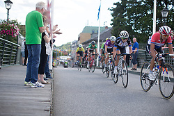 Emilie Moberg (NOR) of Hitec Products Cycling Team digs deep in the penultimate lap of the 117,5 km third stage of the 2016 Ladies' Tour of Norway women's road cycling race on August 13, 2016 between Svinesund, Sweden and Halden, Norway. (Photo by Balint Hamvas/Velofocus)