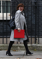 © Licensed to London News Pictures. 05/11/2019. London, UK. Nicky Morgan Secretary of State for Culture leaves 10 Downing Street after the last cabinet meeting before Parliament dissolves for the general Election. Photo credit: Alex Lentati/LNP