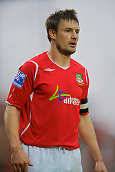 WREXHAM, WALES - Saturday, February 14, 2009: Wrexham's captain Ashley Westwood in action against Grays Athletic during the Blue Square Premier League match at the Racecourse Ground. (Mandatory credit: David Rawcliffe/Propaganda)