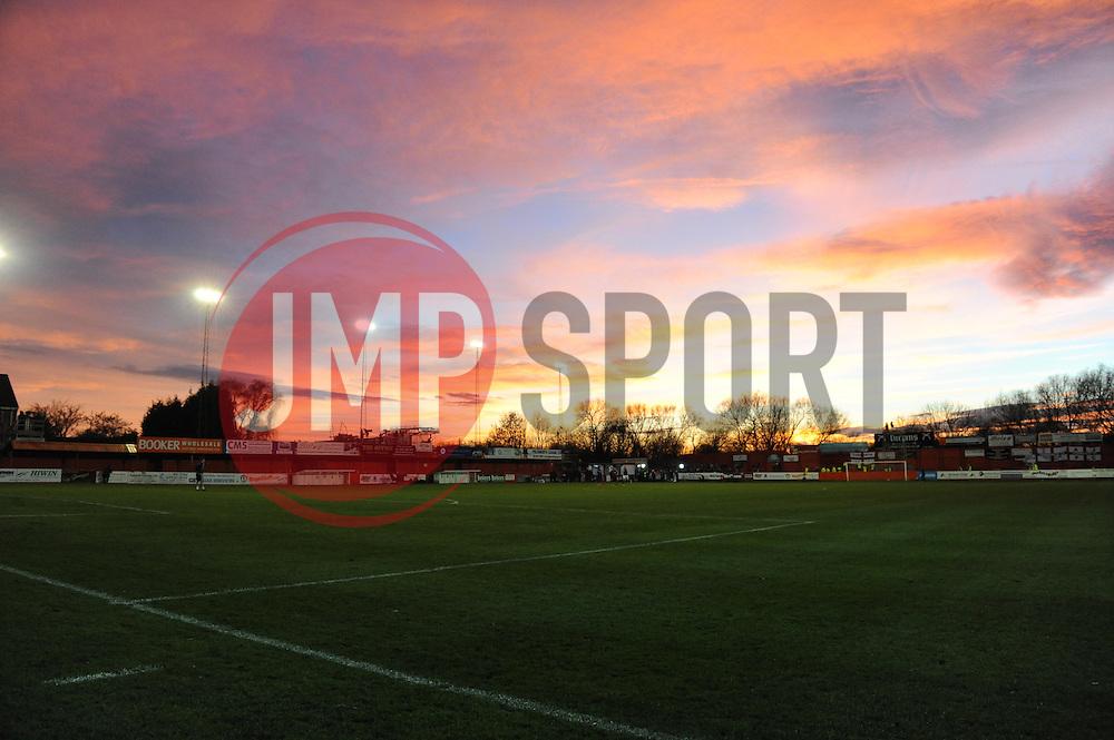 The Lamb Ground - Photo mandatory by-line: Dougie Allward/JMP - Tel: Mobile: 07966 386802 08/12/2013 - SPORT - Football - Tamworth - The Lamb Ground - Tamworth v Bristol City - FA Cup - Second Round