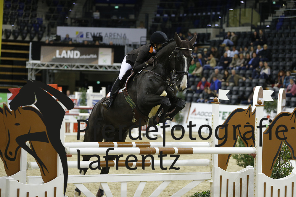 Wolf, Claudia, Balou en Noir<br /> Oldenburg - Agravis Cup<br /> Nationales Springen<br /> © www.sportfotos-lafrentz.de/ Stefan Lafrentz