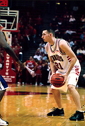 November 16, 2001:  Illinois State Redbirds basketball player Shawn Jeppson..This image was scanned from a print.  Image quality may vary.  Dust and other unwanted artifacts may exist.