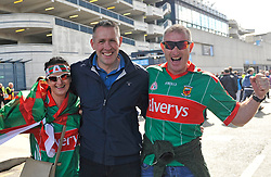 Mary Mulchrone, Adrian McNally and Padraig Marrey, Ballinrobe at the All Ireland Football Final.<br /> Pic Conor McKeown
