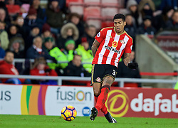 SUNDERLAND, ENGLAND - Monday, January 2, 2017: Sunderland's Patrick van Aanholt in action against Liverpool during the FA Premier League match at the Stadium of Light. (Pic by David Rawcliffe/Propaganda)