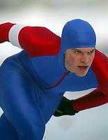 Skøyter, 21. desember 2002. NM enkeltdistanser. Preben Kristensen , Fana på 3000 meter