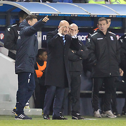 Millwall Manager, Ian Holloway appeals to his players to think - Photo mandatory by-line: Robin White/JMP - Tel: Mobile: 07966 386802 15/03/2014 - SPORT - FOOTBALL - The Den - Millwall - Millwall v Birmingham City - Sky Bet Championship
