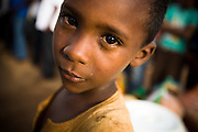 Young boy in the village of Boulembe, near Bertoua, Cameroon, on Tuesday September 15, 2009..