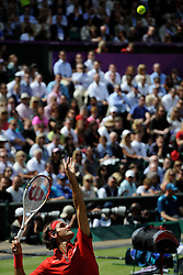 05.08.2012, Wimbledon, London, GBR, Olympia 2012, Tennis, Herren Finale, im Bild Roger Federer (SUI) // during Tennis Mens Final, at the 2012 Summer Olympics at Wimbledon, London, United Kingdom on 2012/08/05. EXPA Pictures © 2012, PhotoCredit: EXPA/ Freshfocus/ Valeriano Di Domenico..***** ATTENTION - for AUT, SLO, CRO, SRB, BIH only *****