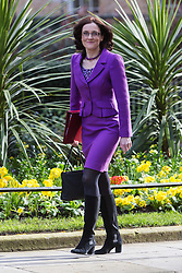 © Licensed to London News Pictures. 12/04/2016. London, UK. THERESA VILLIERS arrives for a cabinet meeting at 10 Downing Street. Photo credit : Vickie Flores/LNP