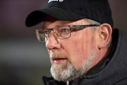 Craig Levein, manager of Heart of Midlothian before the William Hill Scottish Cup quarter final replay match between Heart of Midlothian and Partick Thistle at Tynecastle Stadium, Gorgie, Edinburgh Scotland on 12 March 2019.