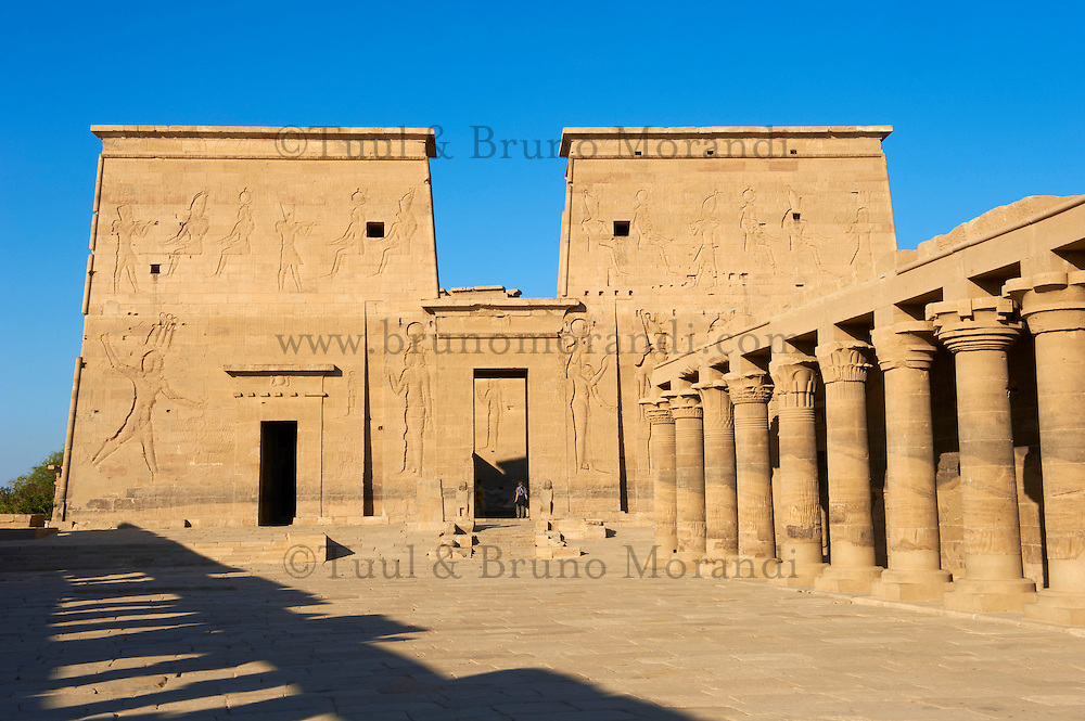 Egypte, Haute-Egypte, Assouan, île d' Agilka, temple de Philae // Egypt, Nile valley, Aswan, Agilkia island, Philae, UNESCO World Heritage Site
