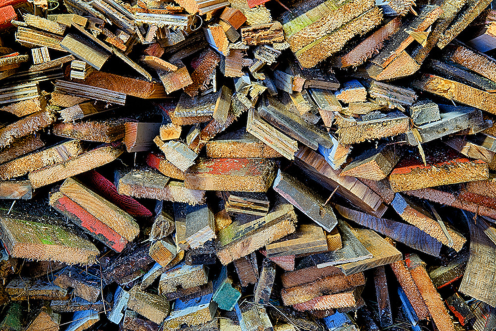 Colorful wood scraps.
