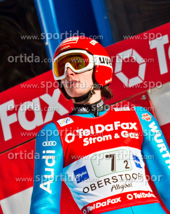 06.02.2011, Heini Klopfer Skiflugschanze, Oberstdorf, GER, FIS World Cup, Ski Jumping, Teamwettbewerb, Finale, im Bild Richard Freitag (GER) , during ski jump at the ski jumping world cup Trail round in Oberstdorf, Germany on 06/02/2011, EXPA Pictures © 2011, PhotoCredit: EXPA/ P. Rinderer