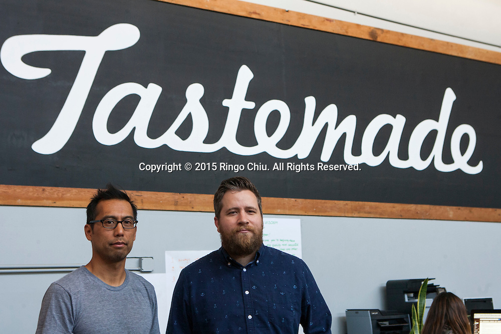 Joe Perez, left,  (co-founder, Tastemade) and Jay Holzer (head of production, Tastemade). (Photo by Ringo Chiu/PHOTOFORMULA.com)
