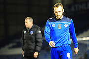 Liam Kelly of Oldham Athletic prior to the Sky Bet League 1 match between Oldham Athletic and Blackpool at SportsDirect.Com Park, Oldham, England on 15 March 2016. Photo by Mike Sheridan.