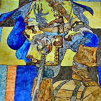 Captain Morgan Stained Glass Window at Half Moon Cay, Bahamas <br /> Rum drinkers will immediately recognize this swashbuckling figure that is standing on a wooden cask: Captain Morgan. But few people know much about Sir Henry Morgan.  Born in 1635, he became infamous as a ruthless privateer who attacked Spanish ships and towns in the Caribbean for the enrichment of England and his crew. Shortly before he died in 1688, he was the subject of a scathing book about his exploits.  Although he successfully sued for a retraction, his reputation was forever sealed.