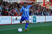 Liam Feeney of Blackpool  during the EFL Sky Bet League 1 match between Accrington Stanley and Blackpool at the Fraser Eagle Stadium, Accrington, England on 21 September 2019.