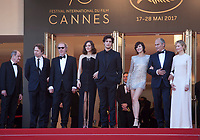 The cast of Ismael's Ghosts at the opening ceremony and Ismael's Ghosts (Les Fantômes D'ismaël) gala screening,  at the 70th Cannes Film Festival Wednesday May 17th 2017, Cannes, France. Photo credit: Doreen Kennedy