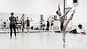 Amy Hall Garner (choreographer) rehearses the dancers from the Columbia Ballet Collaborative in Barnard College's Studio 1, for the Spring 2016 performance to be held at the Miller Theatre Columbia University School of the Arts.