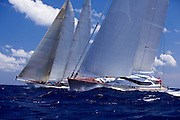 Destination Fox Harb'r racing in the St. Barth's Bucket Regatta.