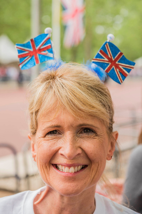 A patriotic group from Wheymouth - Queens 90th birthday was celebrated by the traditional Trooping the Colour as well as a flotilla on the river Thames.