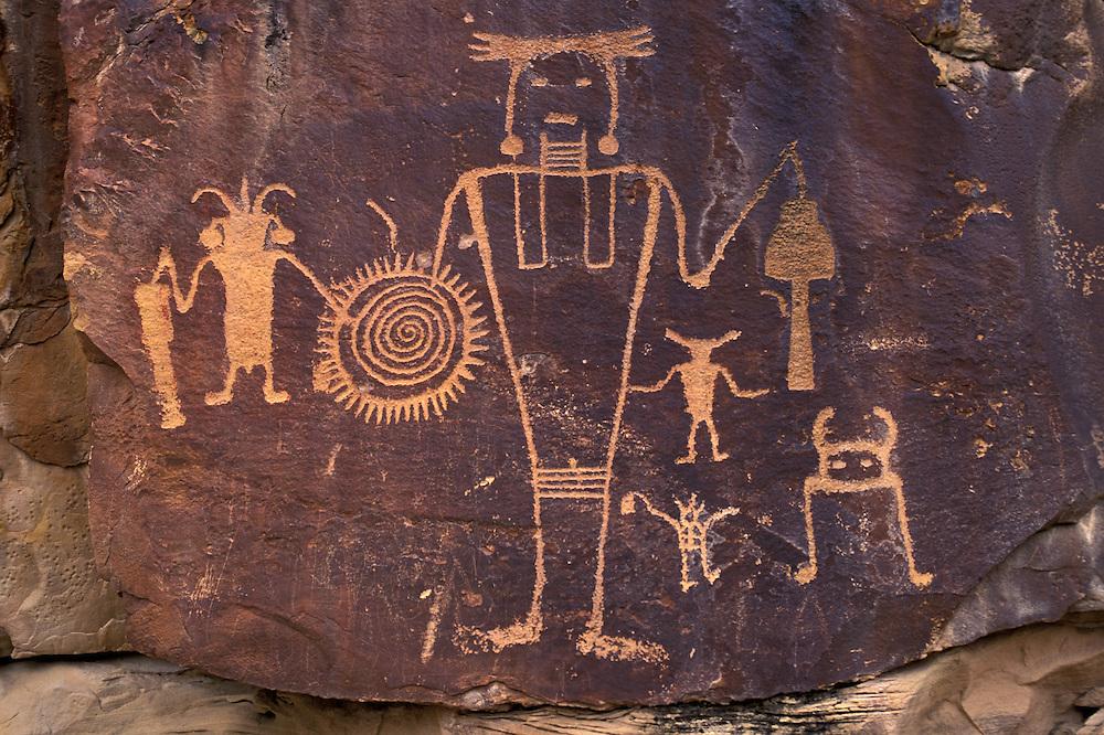 Fremont Petroglyphs,.Mc Kee Spring,.Dinosaur National Monument,.Utah, USA