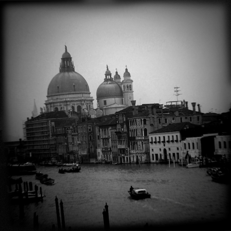 "Venetia Obscura a dark view of Venice (Venezia) Italy with strong iconic images in Black and White, ideal fro book cover about ""La Serenissima"" as the ventian call Venice"