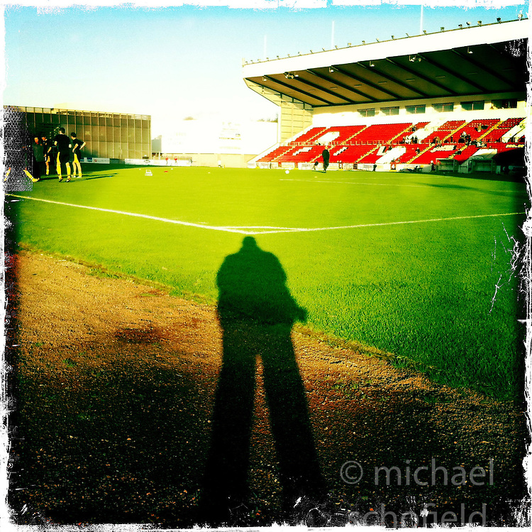Broadwood Stadium, also referred to as simply Broadwood, is a football stadium and multi-use community sports complex situated in Cumbernauld, North Lanarkshire, Scotland. The stadium was opened in 1994 and since then has been the home venue of Scottish Third Division side, Clyde F.C..Hipstamatic images taken on an Apple iPhone..©Michael Schofield.