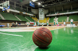 Ball during practice session of basketball club Stelmet BC Zielona Gora (POL), on January 21, 2016 in CRS Hala Zielona Góra, Zielona Gora, Poland. Photo by Vid Ponikvar / Sportida