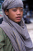 BURMA - Kayin State; Myawadi. A 14 year old child labourer.(works with steel rods)