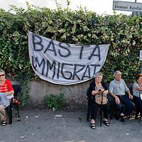 Roma - Protesta a Tor Sapienza contro il degrado