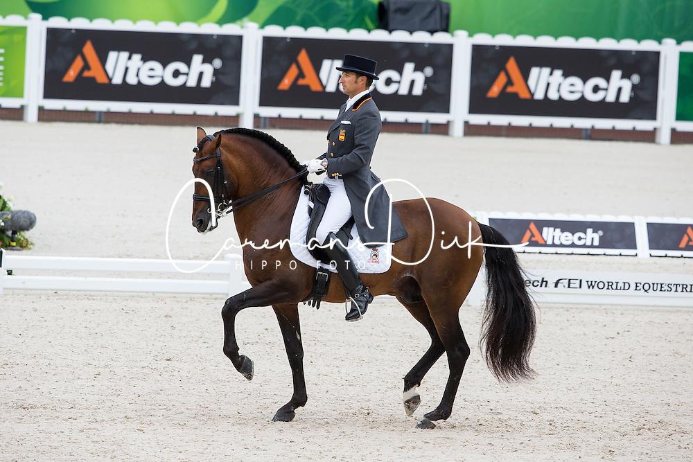 Jose Daniel Martin Dockx, (ESP), Grandioso - Grand Prix Team Competition Dressage - Alltech FEI World Equestrian Games&trade; 2014 - Normandy, France.<br /> &copy; Hippo Foto Team - Leanjo de Koster<br /> 25/06/14