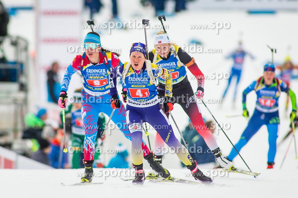 Anastasiya Merkushyna (UKR) during Single Mixed Relay at day 1 of IBU Biathlon World Cup 2018/19 Pokljuka, on December 2, 2018 in Rudno polje, Pokljuka, Pokljuka, Slovenia. Photo by Ziga Zupan / Sportida