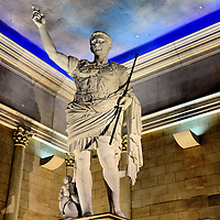 Caesar Statue Inside Caesars Atlantic City in Atlantic City, New Jersey<br />