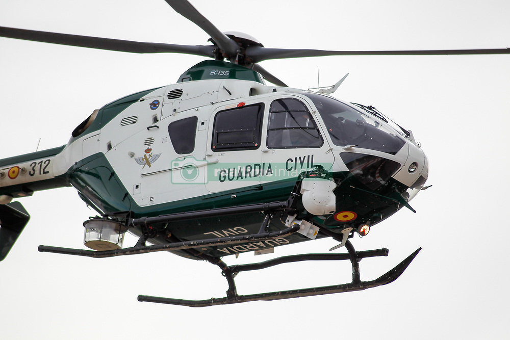 November 17, 2019, Cheste, VALENCIA, SPAIN: A Civil Guard (Guardia Civil) helicopter flying during the Moto2 Race of the Valencia Grand Prix of MotoGP World Championship celebrated at Circuit Ricardo Tormo on November 16, 2019, in Cheste, Spain. (Credit Image: © AFP7 via ZUMA Wire)