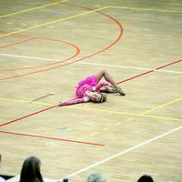 Nederland, Amsterdam , 16 januari 2010..De Nederlandse kampioenschappen Baton Twirling in de Sporthallen Zuid Amsterdam..Twirlen is een sport waarbij bewegingen worden gemaakt met een baton. De bewegingen zijn meestal dans en gymnastische bewegingen op allerlei verschillende soorten muziek...Je hebt super veel onderdelen met twirlen want je hebt; 1-baton, 2-baton, duotwirling, strutting, basic-strut en twirlteams in small en large. Deze onderdelen doe je op verplichte N.B.T.A.-muziek. Ook heb je dan nog dance-twirl, smallteam dance, largeteam dance en pomponteams..Foto:Jean-Pierre Jans
