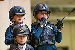 Van Den Eynde Jitske, BEL, Hoste Chloé, BEL<br /> Nationaal Indoor Kampioenschap Pony's LRV <br /> Oud Heverlee 2019<br /> © Hippo Foto - Dirk Caremans<br /> 09/03/2019