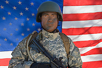 Portrait of US army soldier