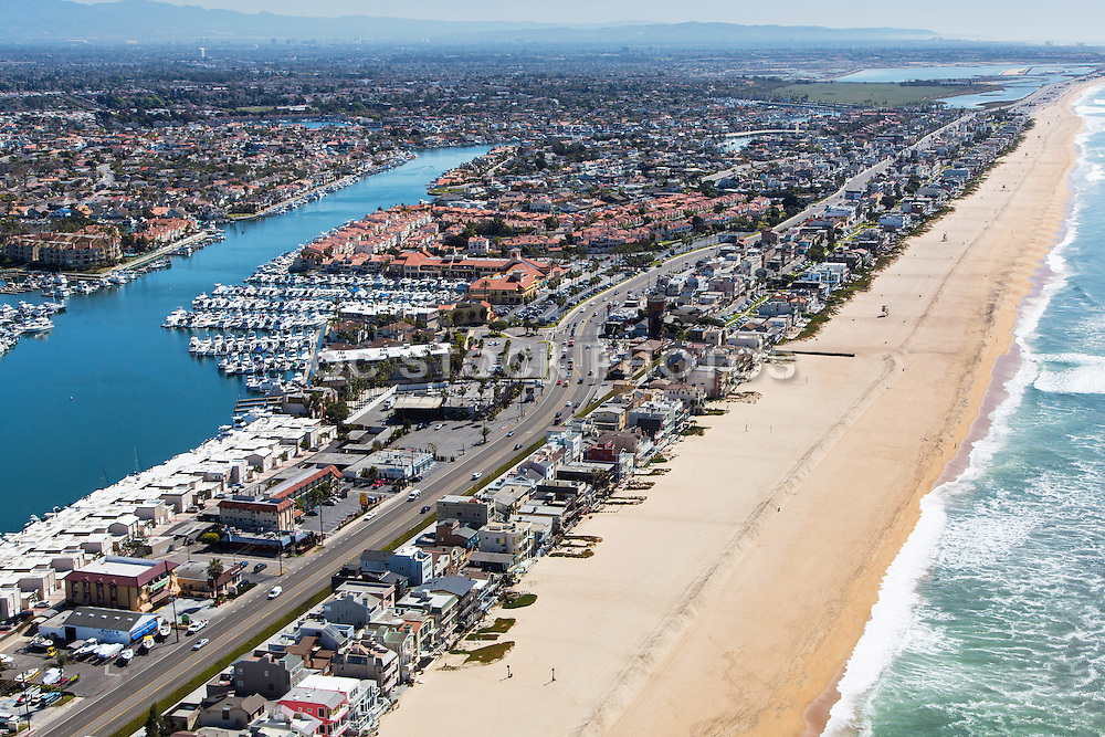 Aerial Stock Photo Of Sunset Beach In Huntington Beach California Oc Stock Photos