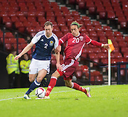 Scotland&rsquo;s Steven Whittaker &nbsp;&nbsp;  goes past Denmark&rsquo;s Yussuf Poulsen Yurary  - Scotland v Denmark, International challenge match at Hampden Park<br /> <br />  - &copy; David Young - www.davidyoungphoto.co.uk - email: davidyoungphoto@gmail.com