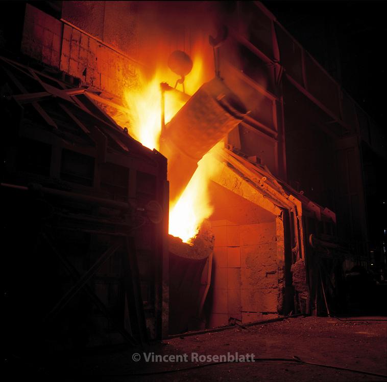 Steel factory Cockerill-Sambre  //<br /> Acierie Cockerill-Sambre / ArcelorMittal , Charleroi, Belgique.
