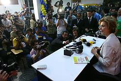 A governadora eleita do Rio Grande do Sul concede entrevista coletiva na sede do PSDB-RS após ser declarada sua vitória.FOTO: Jefferson Bernardes/Preview.com