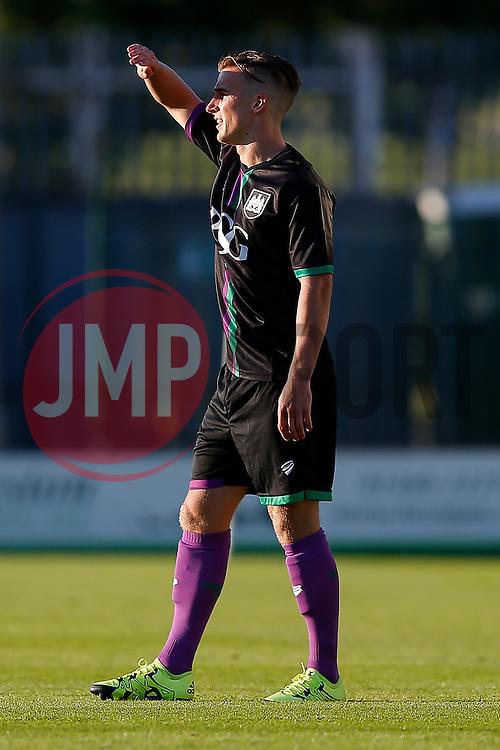 Joe Bryan of Bristol City looks on - Mandatory byline: Rogan Thomson/JMP - 07966 386802 - 30/07/2015 - FOOTBALL - Huish Park Stadium - Yeovil, England - Yeovil Town v Bristol City - Pre Season Friendly.