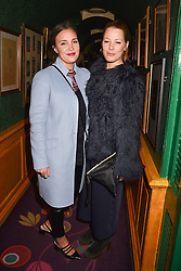 Left to right, Rosie Borgerhoff Mulder and Davina Harbord at the Annabel's Bright Young Things Party held at Annabel's, 44 Berkeley Square, London England. 16 February 2017.