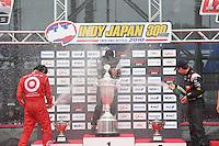 Helio Castroneves, Dario Franchitti, Will Power, Japan Indy 300, Twin Ring Motegi, Motegi, Tochigi Japan, 9/19/2010