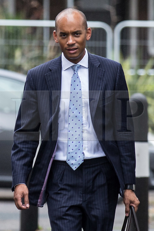 © Licensed to London News Pictures. 20/07/2015. London, UK. Chuka Umunna, Labour MP for Streatham at Roupell Park Estate in Brixton to talk about renewable energy with Labour Leadership candidate Liz Kendall. Photo credit : James Gourley/LNP
