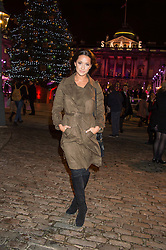 ROXIE NAFOUSI at the launch of Skate at Somerset House in association with Fortnum & Mason held at Somerset House, The Strand, London on 17th November 2015.
